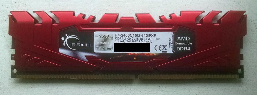 G.skill 16GB DIMM